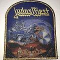 Judas Priest - Patch - Judas Priest Painkiller patch gold glitter border