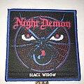 Night Demon - Patch - Night Demon Black Widow patch blue border