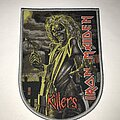 Iron Maiden - Patch - Iron Maiden Killers shield patch grey border
