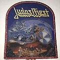 Judas Priest - Patch - Judas Priest Painkiller patch red glitter border