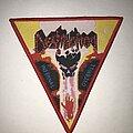 Destruction - Patch - Destruction Infernal Overkill triangle patch red border