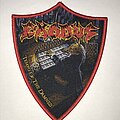 Exodus - Patch - Exodus Tempo Of The Damned shield patch red border