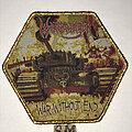 Warbringer - Patch - Warbringer War Without End patch gold glitter border