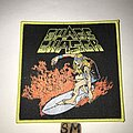 Space Chaser - Patch - Space Chaser surfer patch yellow border