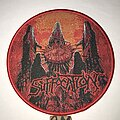 Suffocation - Patch - Suffocation Blood Oath circle patch red border