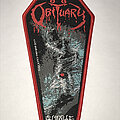 Obituary - Patch - Obituary 'Cause Of Death' coffin patch red border