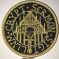 Crypt Sermon - Patch - Crypt Sermon circle patch gold border