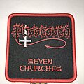 Possessed - Patch - Possessed Seven Churches patch red border