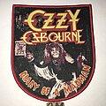 Ozzy Osbourne - Patch - Ozzy Osbourne Diary Of A Madman patch red border