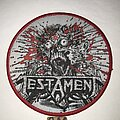 Testament - Patch - Testament Return To The Apocalyptic City circle patch red border