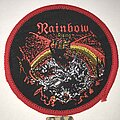 Rainbow - Patch - Rainbow Rising circle patch red border