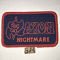 Saxon - Patch - Saxon Nightmare patch red border