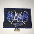 Dark Angel - Patch - Dark Angel Death Is Certain patch blue glitter border