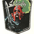 Sodom - Patch - Sodom In The Sign Of Evil patch silver glitter border