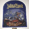 Judas Priest - Patch - Judas Priest Painkiller patch blue glitter border