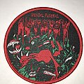Autopsy - Patch - Autopsy Mental Funeral circle patch red border