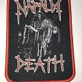 Napalm Death - Patch - Napalm Death patch red border