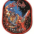 Sodom - Patch - Sodom Code Red patch red border