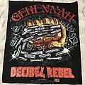 Gehennah - Patch - Gehennah Decibel Rebel back patch