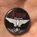 Saxon - Pin / Badge - Saxon Wheels Of Steel button