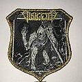 Visigoth - Patch - Visigoth Bells Of Awakening shield patch gold glitter border