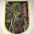 Iron Maiden - Patch - Iron Maiden Killers shield patch yellow border