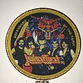 Judas Priest - Patch - Judas Priest Defenders Of The Faith circle patch gold glitter