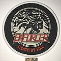 Enforcer - Patch - Enforcer Death By Fire circle patch white border