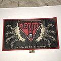 Asphyx - Patch - Asphyx Death Doom Division large patch red border