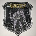 Visigoth - Patch - Visigoth Bells Of Awakening shield patch silver glitter border