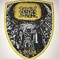 Napalm Death - Patch - Napalm Death Scum shield patch yellow border