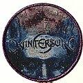 Wintersun - Patch - Wintersun Time I circle patch purple glitter border