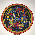 Judas Priest - Patch - Judas Priest Defenders Of The Faith circle patch red border