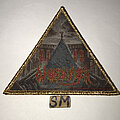 Warbringer - Patch - Warbringer Woe To The Vanquished triangle patch gold glitter border
