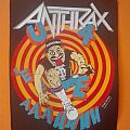 """Anthrax' """"State of Euphoria"""" vintage backpatch"""