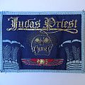 Judas Priest - Sin After Sin vintage patch light blue border
