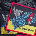 Accept Balls to the Wall vintage patches black & red border