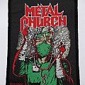 "Metal Church ""Fake Healer"" 1991 vintage woven patch"
