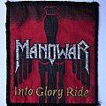 "MANOWAR ""Into Glory Ride"" vintage patch black border"