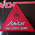 """RAVEN """"All For One"""" vintage triangle original patch"""