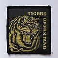 """TYGERS OF PAN TANG """"Don't touch me there!"""" vintage 80s woven patch"""