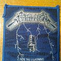 "Metallica ""Ride The Lightning"" vintage woven patch"