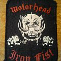 "Motorhead ""Iron Fist"" patch"