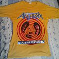 "Anthrax ""State Of Euphoria"" yellow t-shirt"