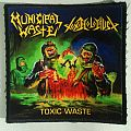 "Municipal Waste / Toxic Holocaust ""Toxic Waste (Split)"" square printed patch"
