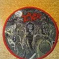 "Slayer ""Live Undead"" vintage woven patch"