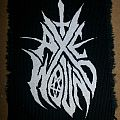 Axe Wound screen printed patch