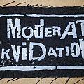 Moderat Likvidation screen printed patch