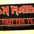 Iron Maiden - Patch - Iron Maiden - The First Ten Years stripe patch '90