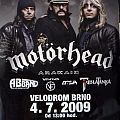 Motörhead, Brno 4.7.2009 (Poster) Other Collectable